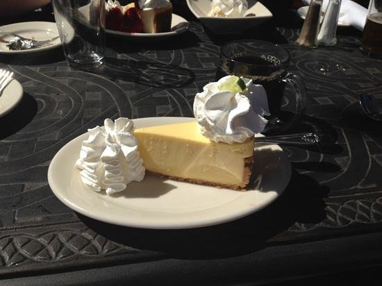 The Cheesecake Factory: Key Lime Cheesecake, yummy!