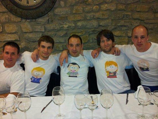 Restaurante Biarritz: Cena con la cuadrilla
