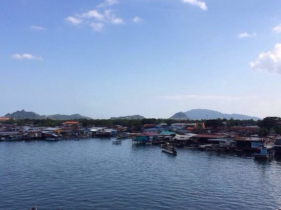 """Seafest Hotel: View of the """"floating village"""" from swimming pool /3rd floor"""