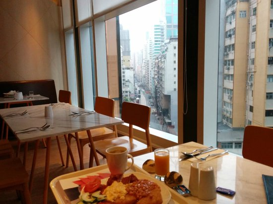 Ibis Hong Kong Central & Sheung Wan Hotel: view from my table at breakfast