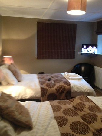 The Poplars - Rooms & Cottages: Wensleydale twin bedroom