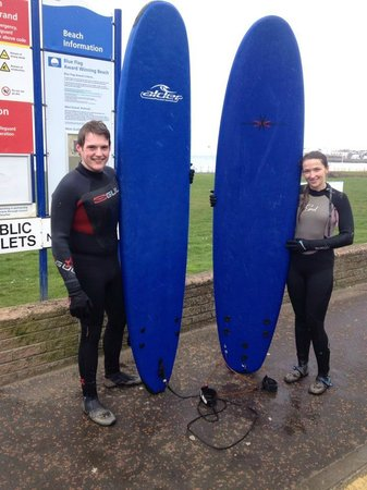 Alive Surf School: The girlfriend and me