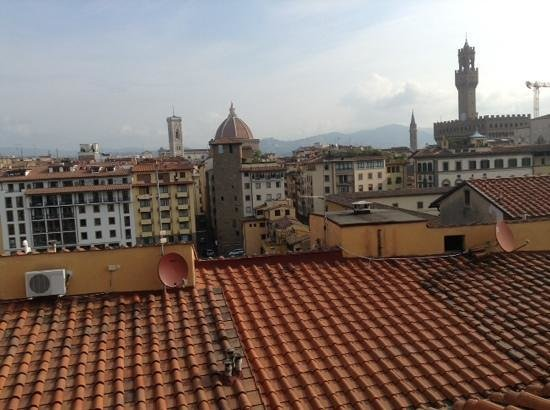 Pitti Palace al Ponte Vecchio : view from breakfast terrace