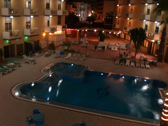 San Pawl Hotel: View from room (evening)