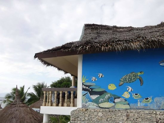 Asian-Belgian Dive Resort: Looking good wall but awful resort and bad owners