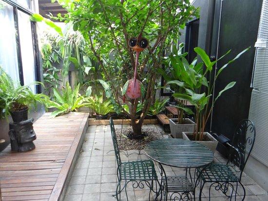 Villa Thapae : petite terrasse du duplex