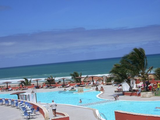 Royal Decameron Boa Vista: looking from hotel out to sea