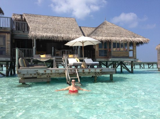 Gili Lankanfushi Maldives : View of our villa from the water