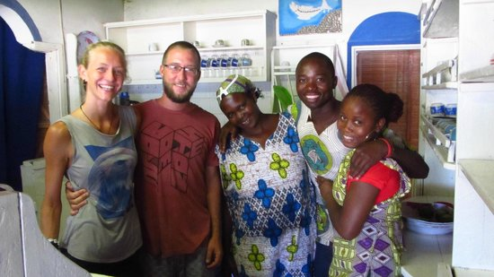 Casa na Praia Tofo: die freundliche Crew