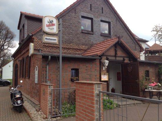 Hoppegarten, Γερμανία: Eingang zum Restaurant