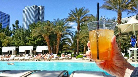 ARIA Resort & Casino: Aria poolside cocktail.