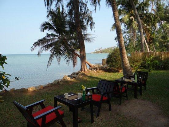 Baan Manali Resort: vue depuis le resto de l'hotel