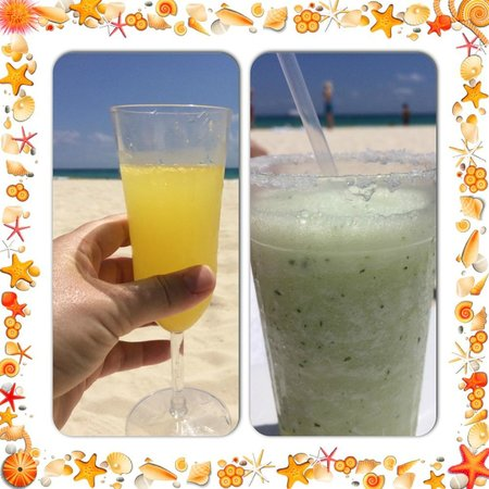 Playacar Palace: Mimosa and Habañero Margarita on the beach