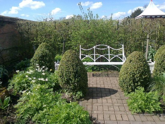 Coughton Court: Italian garden (just one area within walled garden