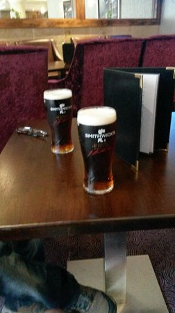 Academy Plaza Hotel : Couple of pints of Smithwicks in the hotel bar