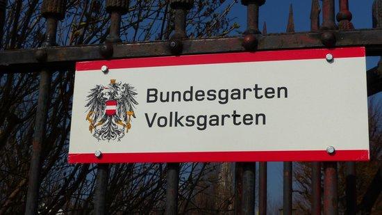 Volksgarten sign