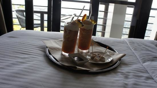 The Boutique Bed & Breakfast: Welcoming drinks