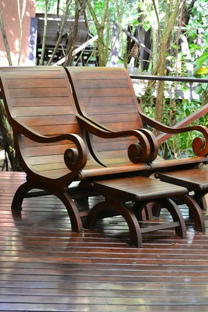 Rio Celeste Hideaway Hotel: Coffee and reading in these chairs every day