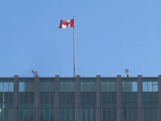 Canada Place: Canadian Flag, All Hail The Maple Leaf.