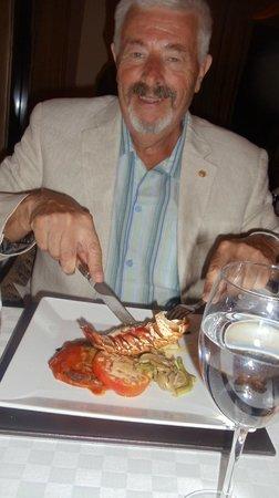 Melia Buenavista: Rest. Los Navegantes, langosta, champagne y buen apetito