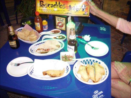 Pescaditos Cancun: Shrimp & fish tacos and shrimp rellenos the best