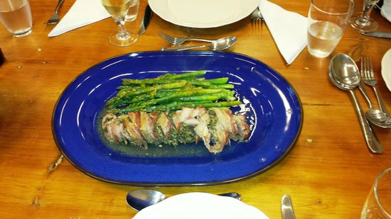 Howth Castle Cookery School: Roast pork with rosemary and sage