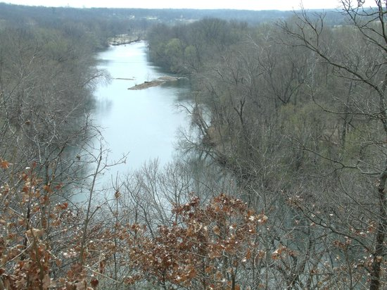 Grand Falls: Joplin MO Looking Down at Shoal Creek From Inspiration Point