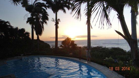 Hotel Au 'Ti Sucrier : Coucher de soleil tous les soirs