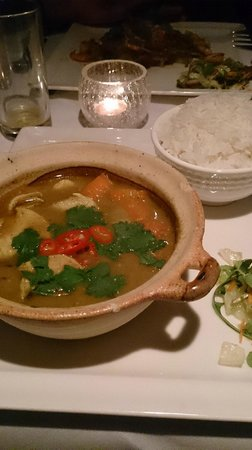 chicken coconut curry & steamed rice Picture of Viet