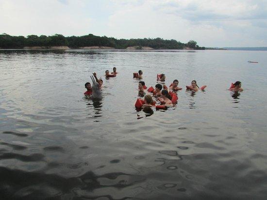 Parque Ecologico Januari : Nadando com os botos