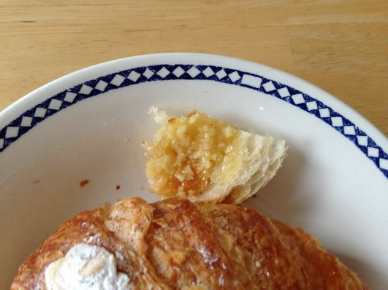 Tatte Cambridge: Almond croissant, dissected a home