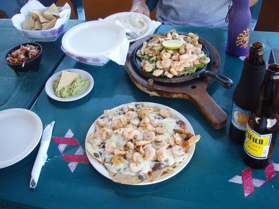 Senor Iguana: Shrimp quesadilla, with freshly made pico degallo salsa!!