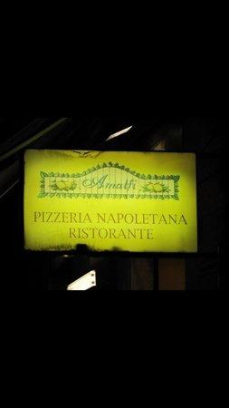 Amalfi Ristorante Pizzeria : The sign at the Pizzeria Amalfi