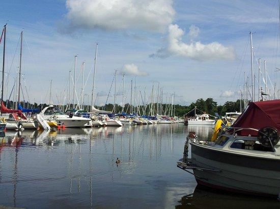 Sundbyholms Slott: 10-08-2013  at the marina