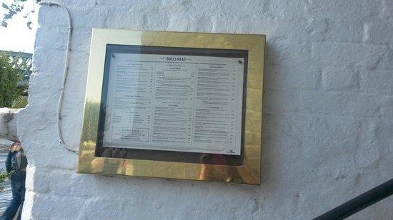 The bulls head menu