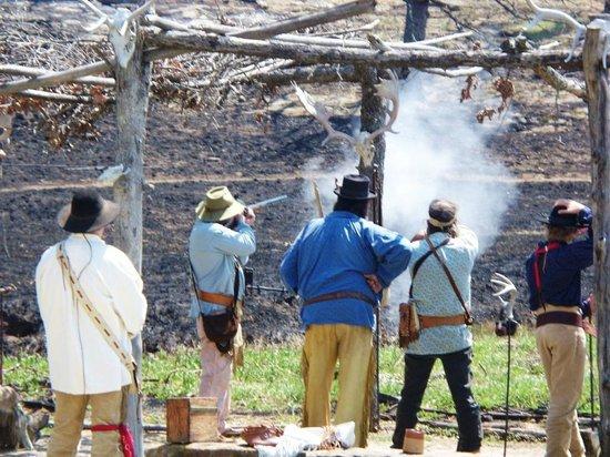 Woolaroc Museum & Wildlife Preserve: blackpowder smoke