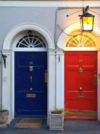 The Old Presbytery: Front doors to the B&B