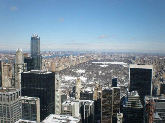 Plate-forme d'observation du GE Building : Central Park in the snow