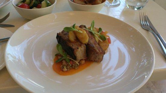 Cuvée Restaurant at Simonsig: pork belly