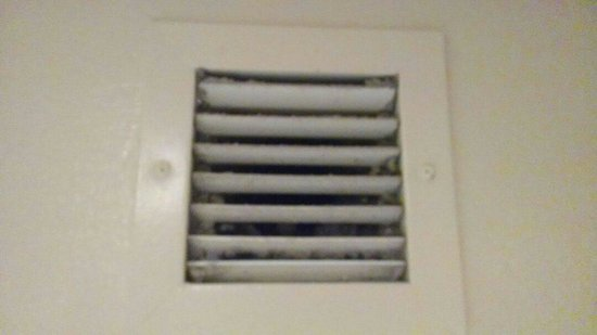 Virgin River Hotel & Casino: Dirty bathroom vent.