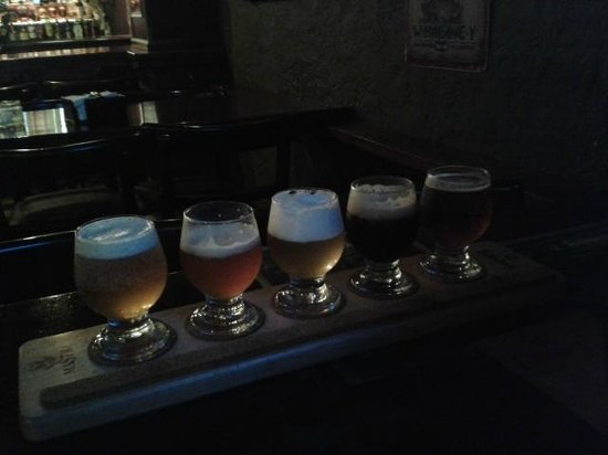 Gallagher's Irish Pub: sample de cerveja