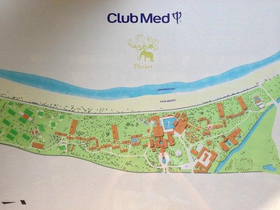 Club Med Phuket: Plan du Club Med