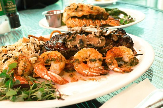 Matanzas on the Bay : Surf and turf and lobster in the background