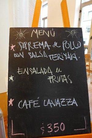 Cafeteria Allegro: Menu board