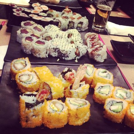 Sumo: A lot of sushi!
