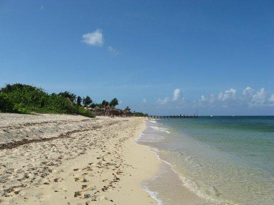 Secrets Aura Cozumel: Walk down the beach