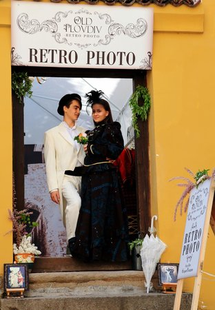 Old Plovdiv Retro Photo: love in our photostudio