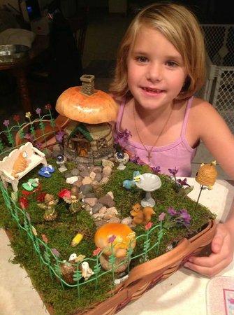 Fun Fairy Garden from Curious Cargo made all by Clara!
