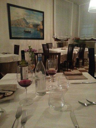 Osteria Bastia 9: Noch waren wir alleine, aber später war das Restaurant gut besucht.