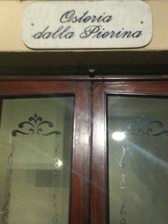 Osteria dalla Pierina : Eingang